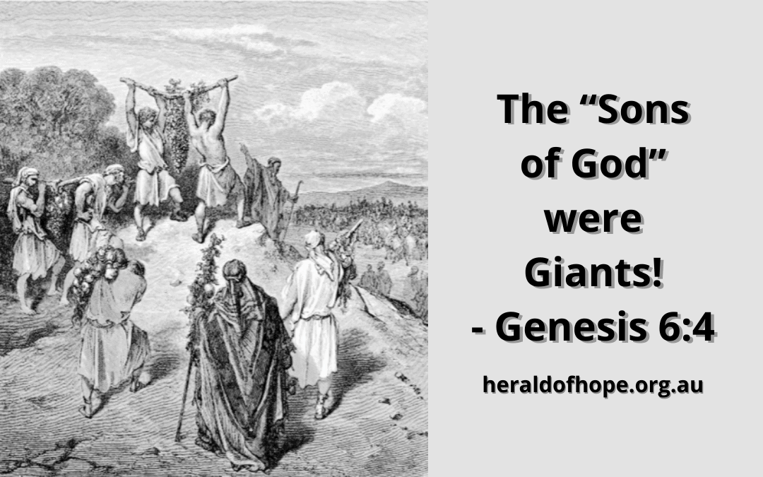 """The """"Sons of God"""" were Giants! - Genesis 6:4"""