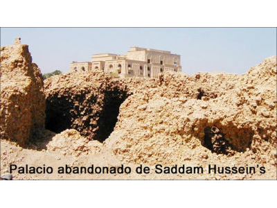 Saddams Palace on ruins of Babylon SPANISH.jpg